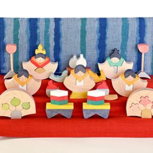 """【おすすめ商品】毎年人気の節句人形!""""組み木のひな人形"""""""