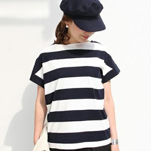 """【新商品】coen(コーエン)から""""ワイドボーダーボートネックTシャツ""""が発売!"""