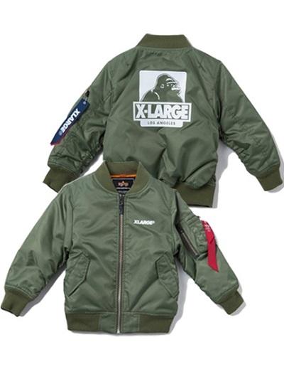"""【新商品】エクストララージ キッズ(XLARGE KIDS)から""""XLARGE KIDS ALPHA MA-1 JACKET""""が発売!"""