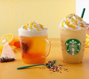 """スターバックスコーヒー(Starbucks Coffee)から""""サンシャイン マンダリン マンゴー ティー フラペチーノ&サンシャイン マンダリン マンゴー ティーが3/15(水)発売!"""