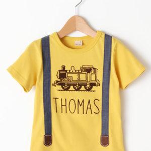 """プティマイン(petit main)から""""きかんしゃトーマスコラボサスペンダーデザインTシャツ""""が発売!"""