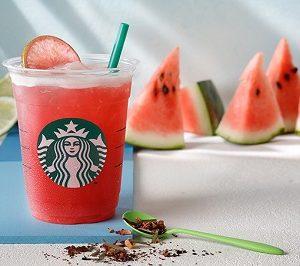 """スターバックスコーヒー(Starbucks Coffee)から""""シェイクン ウォーターメロン & パッション ティー""""が本日発売!"""