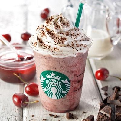 """スターバックスコーヒー(Starbucks Coffee)から""""チェリー&チョコレート チップ フラペチーノ""""が本日発売!"""