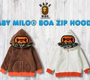 BAPE KIDS®(ベイプキッズ) BABY MILO® BOA ZIP HOODIEが11/18(土)発売!