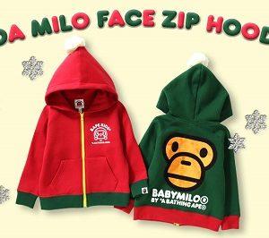 BAPE KIDS®(ベイプキッズ) BOA MILO FACE ZIP HOODIEが発売!