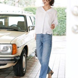 """ジーユー(GU)から""""フレンチリネンスキッパーシャツ(7分袖)""""が発売!"""