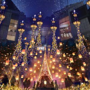 """カレッタ汐留 """"Caretta Illumination 2018 ~ディズニーMovieNEX プリンセスイルミネーション~""""開催!"""