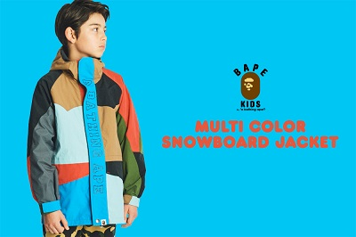 "BAPE KIDS®(ベイプキッズ) ""	MULTI COLOR SNOWBOARD JACKET""が発売!"