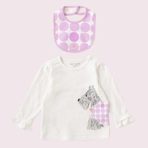 "kate spade new york childrenswear ""ビブ アンド スコッティ ティー セット""が発売!"