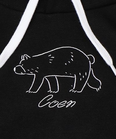 コーエン(coen)から[『コーエンベア刺繍スウェットパーカー』が予約発売!
