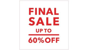 "green label relaxing ""Autumn & Winter FINAL SALE"" が本日スタート"