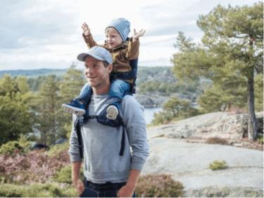 ノルウェー発 肩ぐるまをラクにするベビーキャリアー『MINIMEIS G4』2/5(水)から国内販売開始!