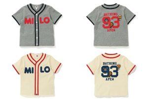 "BAPE KIDS®(ベイプキッズ) "" BABY MILO® BASEBALL SHIRT ""が3/7(土)発売!"