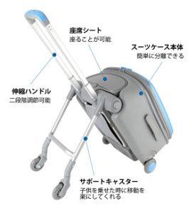 ベビーカーとスーツケースを融合した新製品「キッズスーツケース」登場!