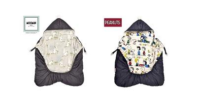 """ベビーザらス限定デザイン """"MOOMIN & PEANUTS (ムーミン&ピーナッツ)抱っこ紐ケープ"""" 発売!"""