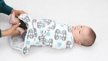 日本初上陸!【Sleeping Baby】着たままオムツ替えできるおくるみ「おくるみん」新登場!